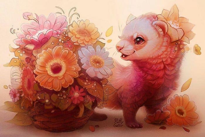 Artista cria ilustrações fofas de animais selvagens e animais de estimação 40