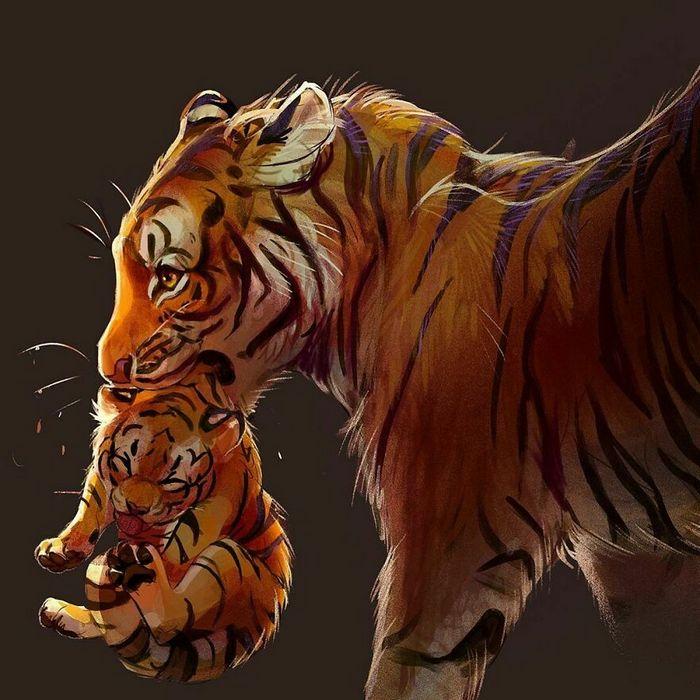 Artista cria ilustrações fofas de animais selvagens e animais de estimação 41