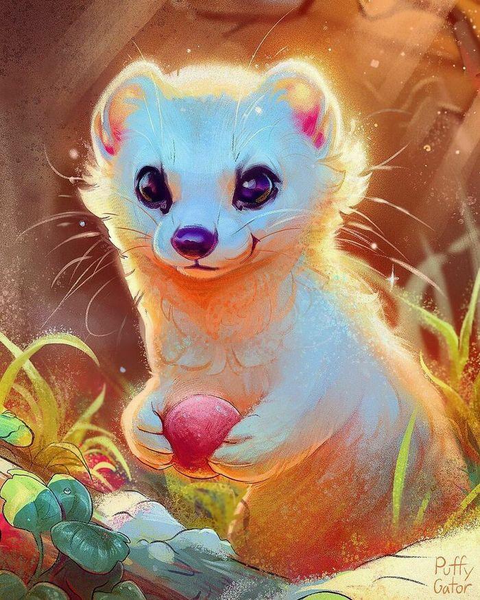 Artista cria ilustrações fofas de animais selvagens e animais de estimação 42