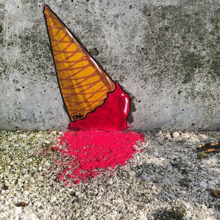 Artista francês espalha humor em espaços urbanos por meio de sua arte 30