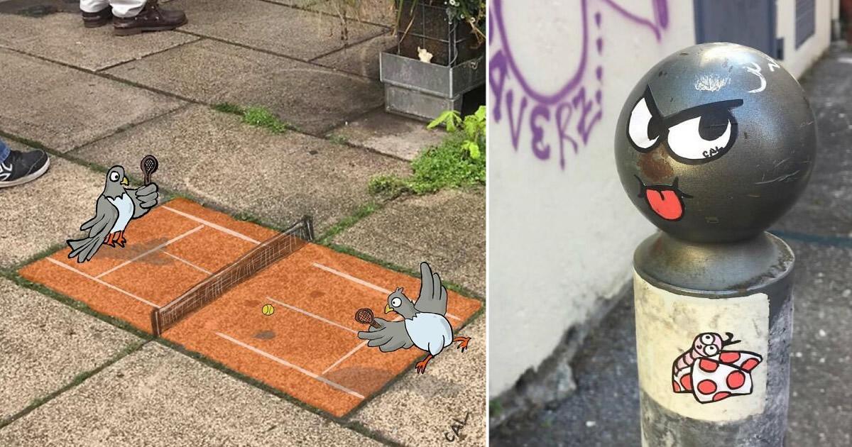 Artista francês espalha humor em espaços urbanos por meio de sua arte 23