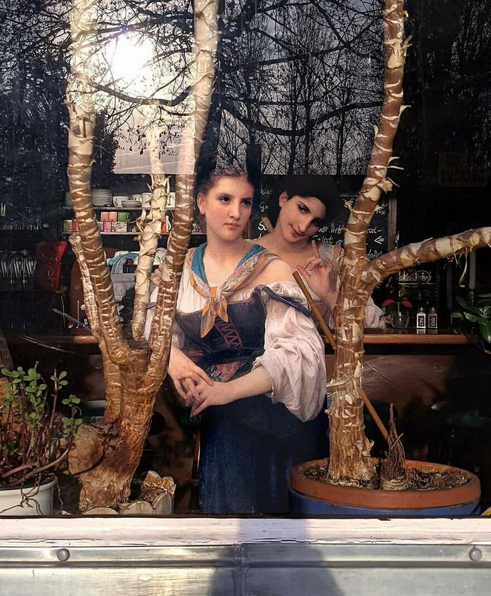 Artista insere personagens de pinturas clássicas no mundo moderno 2