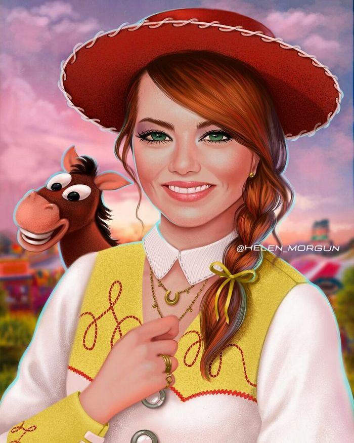 Artista russo mostra quais celebridades que deveria interpretar os personagens de animação 5