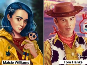 Artista russo mostra quais celebridades que deveria interpretar os personagens de animação 27