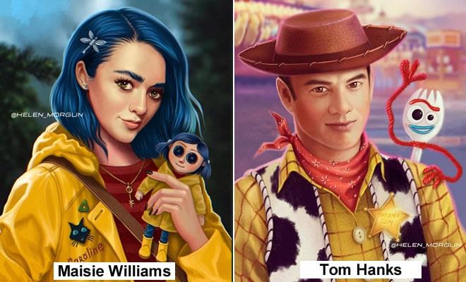 Artista russo mostra quais celebridades que deveria interpretar os personagens de animação 1