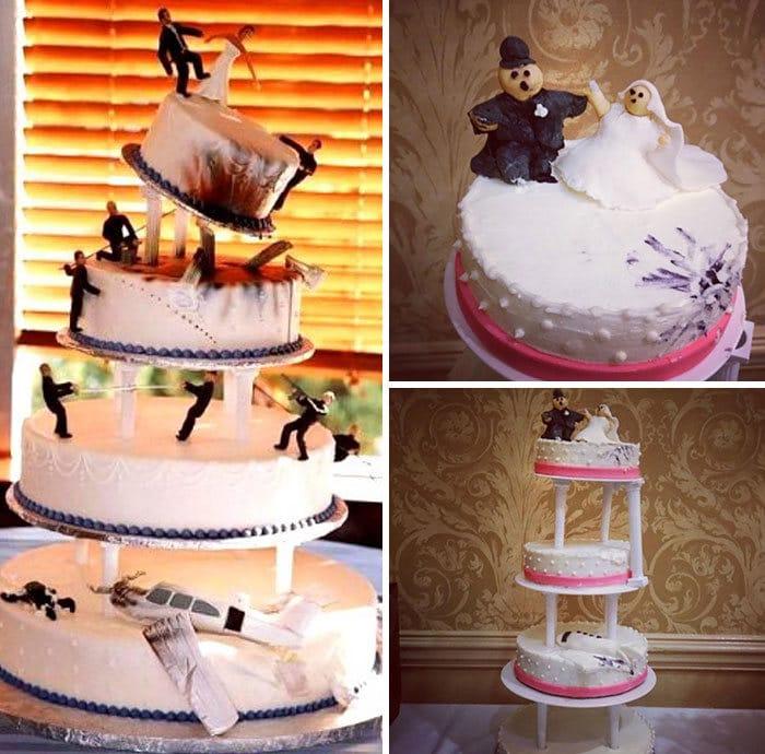 30 vezes as pessoas questionam se esses bolos de casamento eram a escolha certa para o grande dia 14