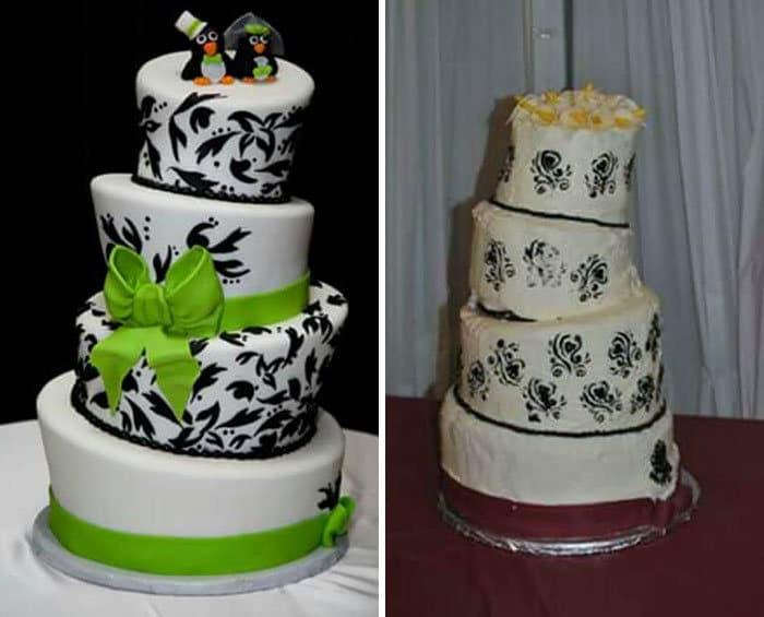 30 vezes as pessoas questionam se esses bolos de casamento eram a escolha certa para o grande dia 31