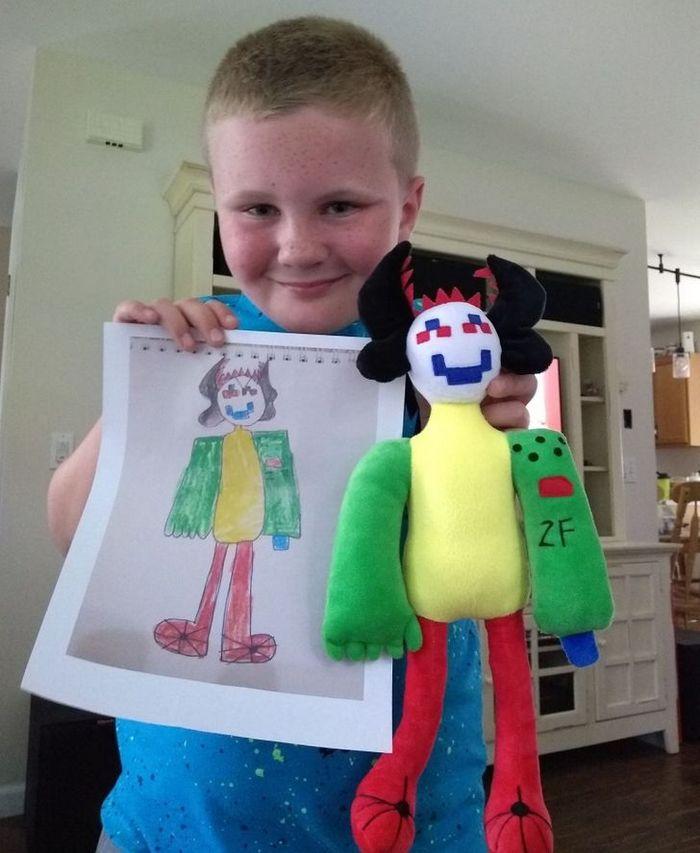 16 brinquedos criando a partir de desenhos feitos por crianças 10