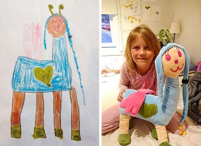 16 brinquedos criando a partir de desenhos feitos por crianças 11