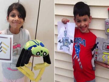 16 brinquedos criando a partir de desenhos feitos por crianças 7