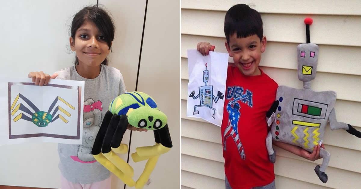 16 brinquedos criando a partir de desenhos feitos por crianças 40
