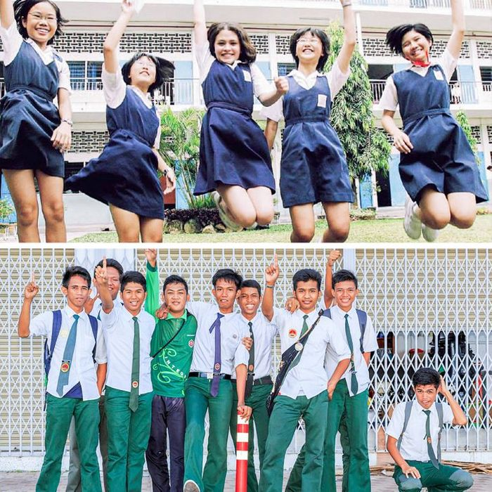 Como são os uniformes escolares em alguns países 2