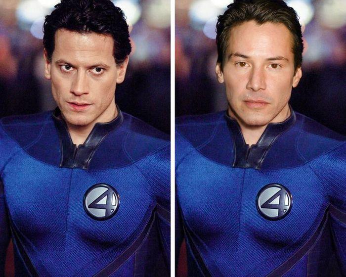 Como seriam os 12 super-heróis se fossem interpretados por Keanu Reeves 13