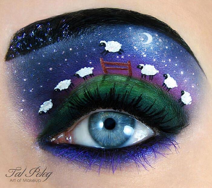 Esta artista cria cenas mágicas em suas pálpebras usando maquiagem 2
