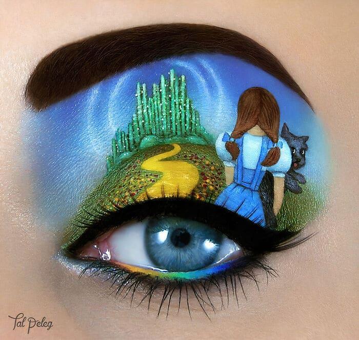 Esta artista cria cenas mágicas em suas pálpebras usando maquiagem 3