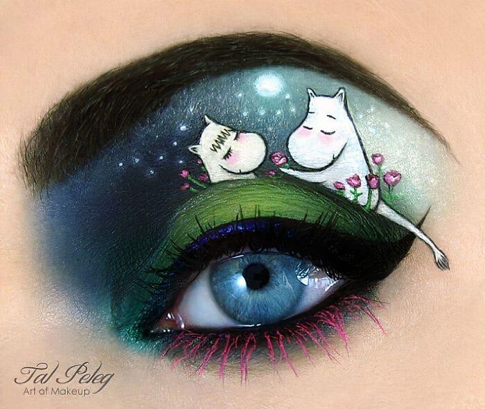 Esta artista cria cenas mágicas em suas pálpebras usando maquiagem 4