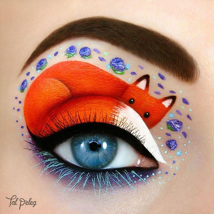 Esta artista cria cenas mágicas em suas pálpebras usando maquiagem 8