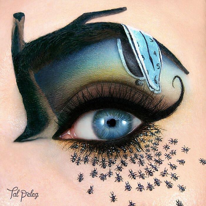 Esta artista cria cenas mágicas em suas pálpebras usando maquiagem 9