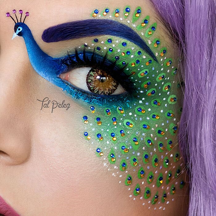 Esta artista cria cenas mágicas em suas pálpebras usando maquiagem 11