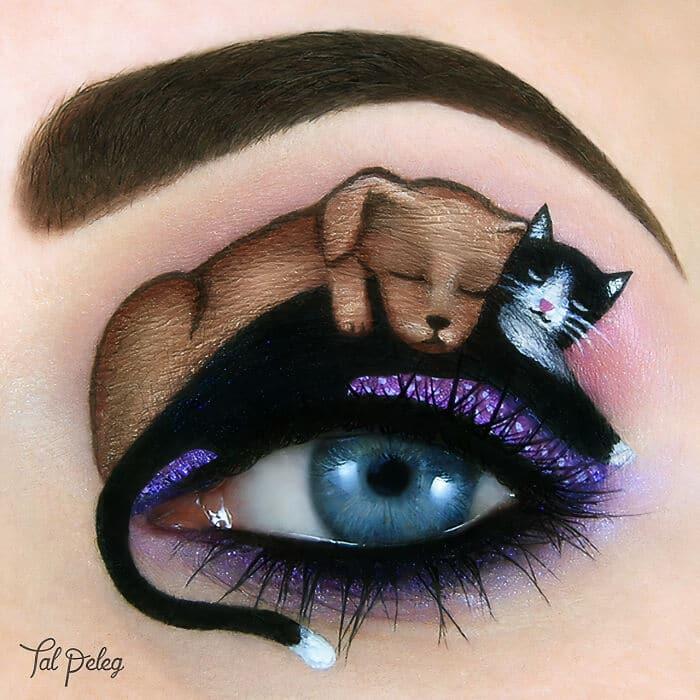 Esta artista cria cenas mágicas em suas pálpebras usando maquiagem 12