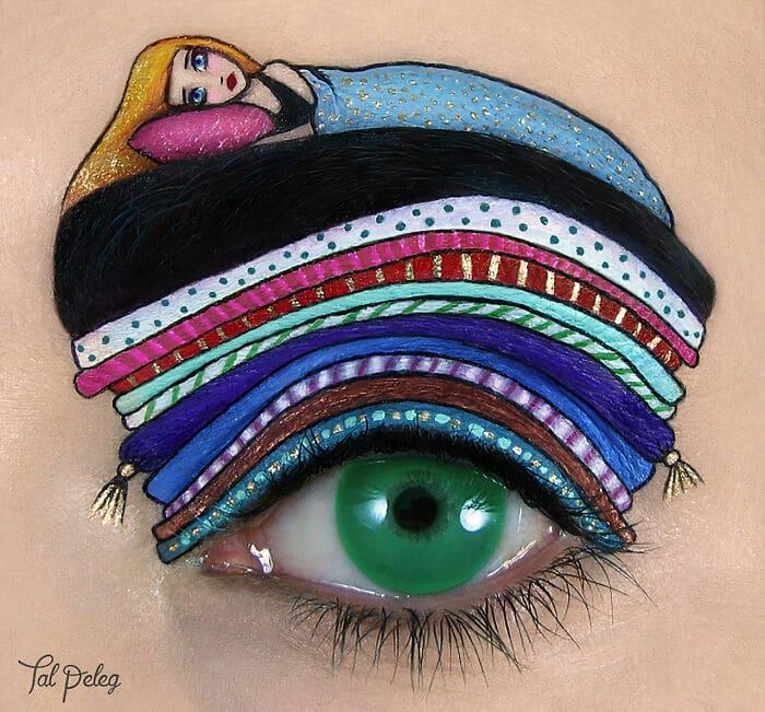 Esta artista cria cenas mágicas em suas pálpebras usando maquiagem 15