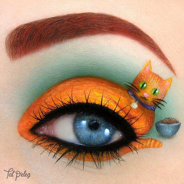 Esta artista cria cenas mágicas em suas pálpebras usando maquiagem 17