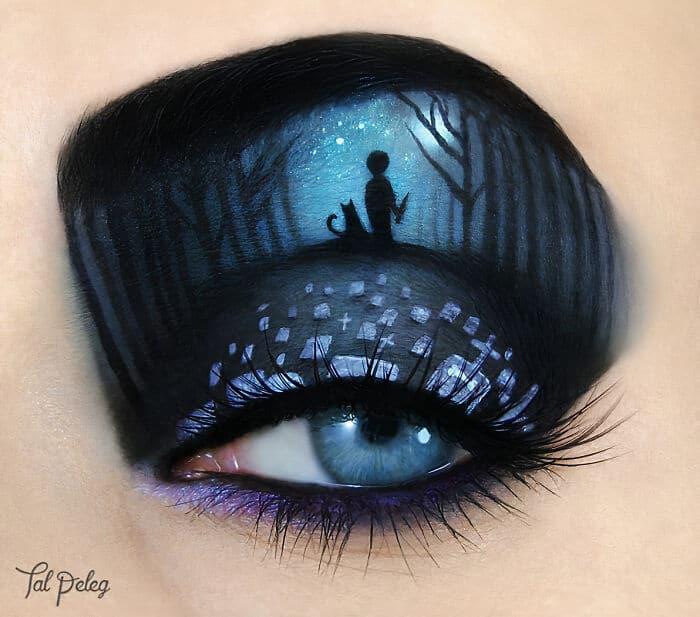 Esta artista cria cenas mágicas em suas pálpebras usando maquiagem 18