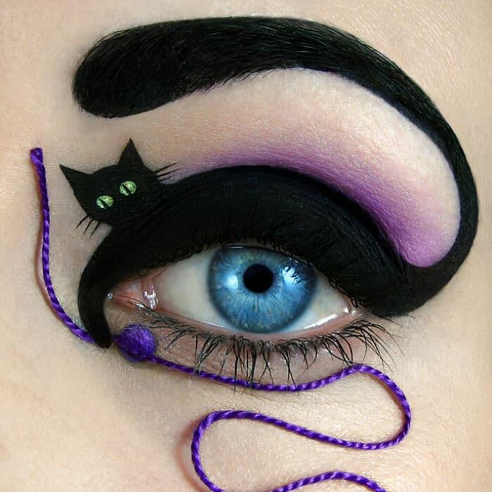 Esta artista cria cenas mágicas em suas pálpebras usando maquiagem 21