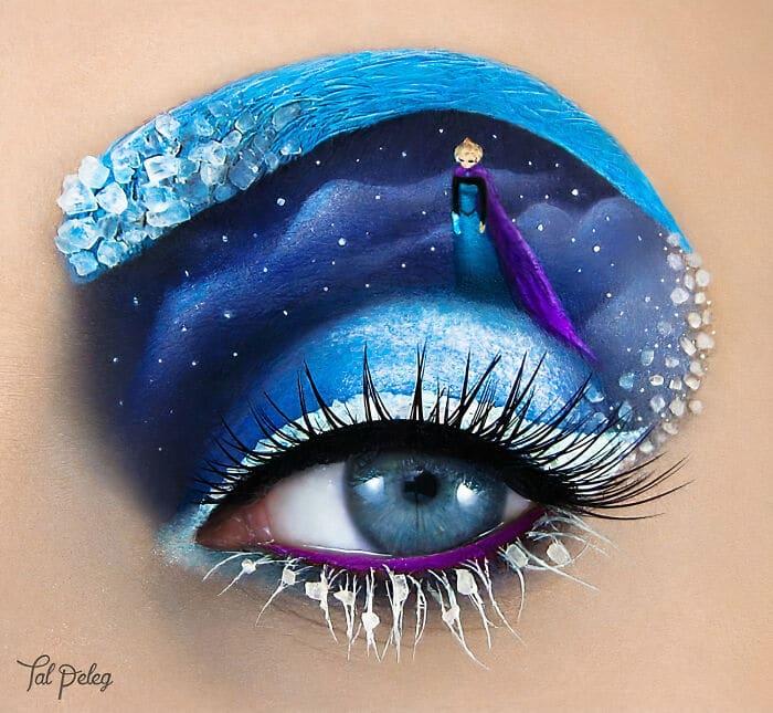 Esta artista cria cenas mágicas em suas pálpebras usando maquiagem 24