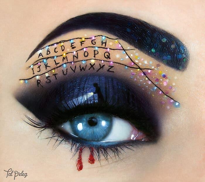 Esta artista cria cenas mágicas em suas pálpebras usando maquiagem 25