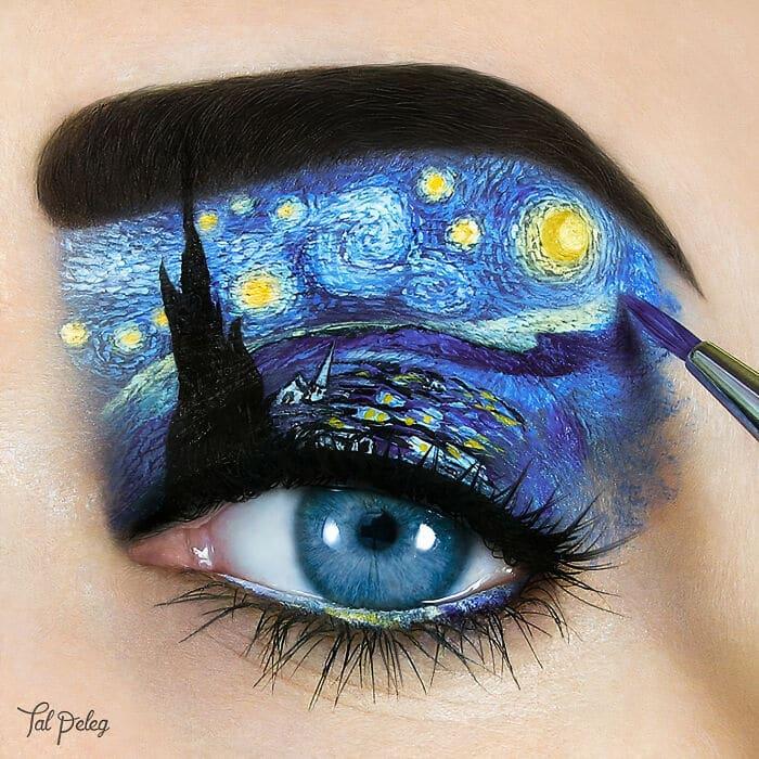 Esta artista cria cenas mágicas em suas pálpebras usando maquiagem 26