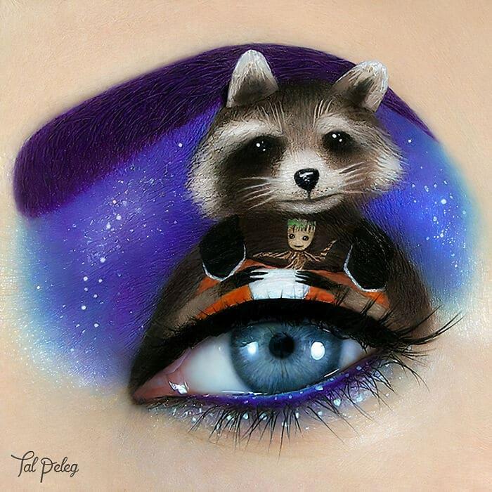Esta artista cria cenas mágicas em suas pálpebras usando maquiagem 27