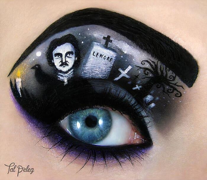 Esta artista cria cenas mágicas em suas pálpebras usando maquiagem 29