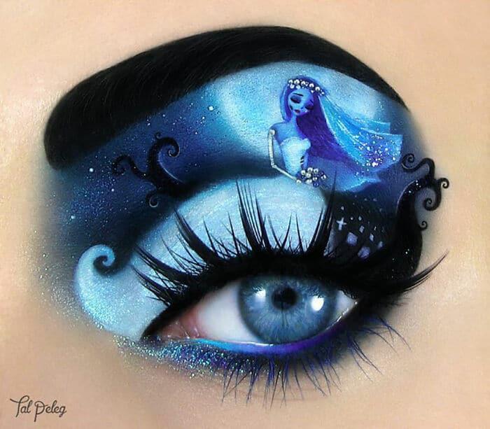 Esta artista cria cenas mágicas em suas pálpebras usando maquiagem 30