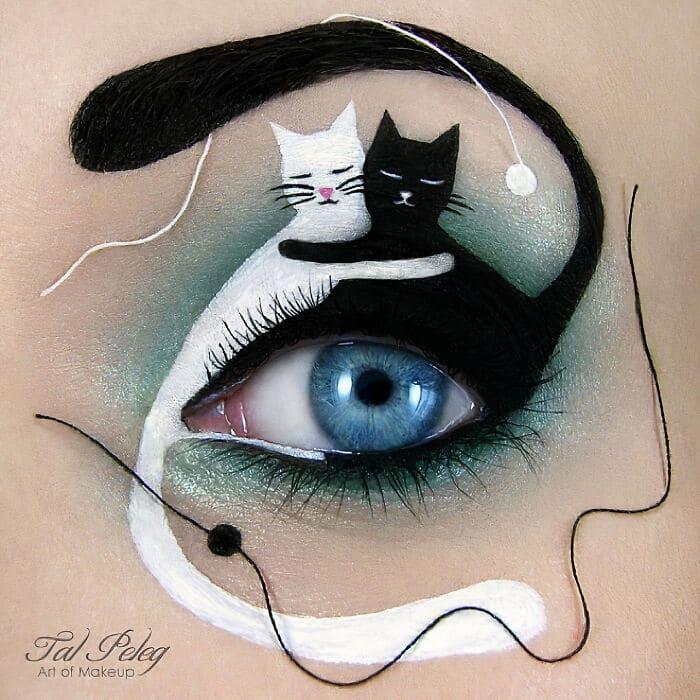 Esta artista cria cenas mágicas em suas pálpebras usando maquiagem 36