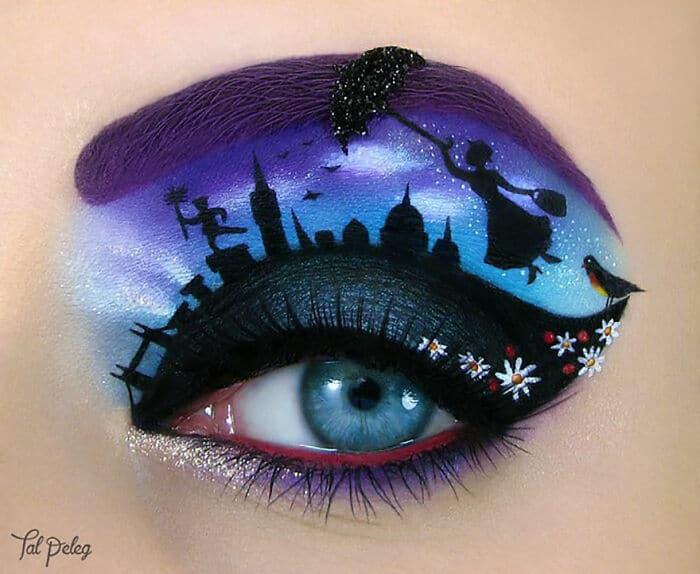 Esta artista cria cenas mágicas em suas pálpebras usando maquiagem 40