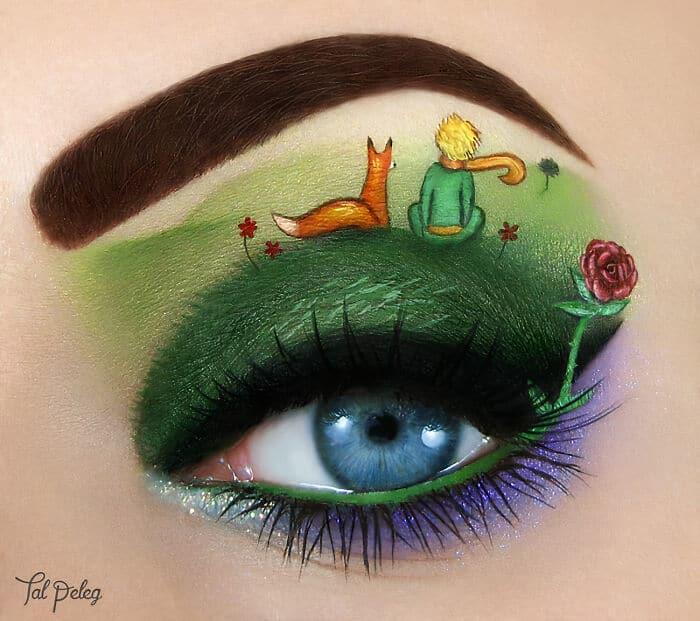 Esta artista cria cenas mágicas em suas pálpebras usando maquiagem 41