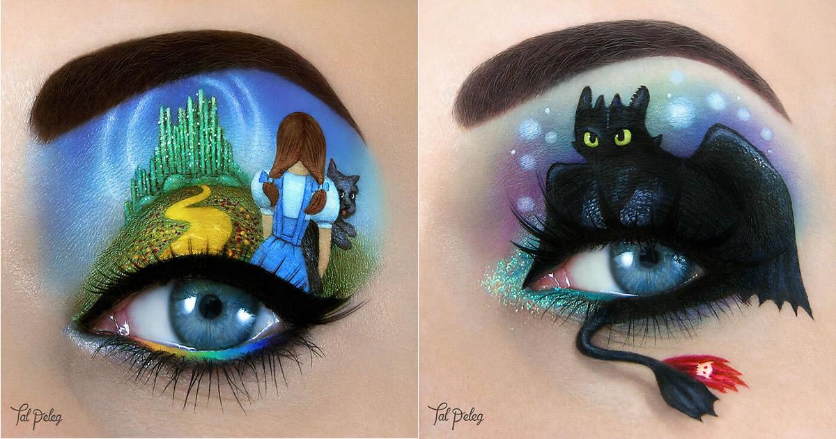 Esta artista cria cenas mágicas em suas pálpebras usando maquiagem 22