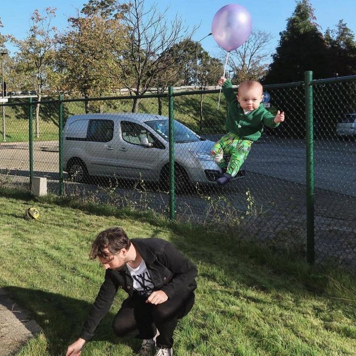 Pai usa Photoshop para por seu filho em situações de perigo para assustar os parentes 7