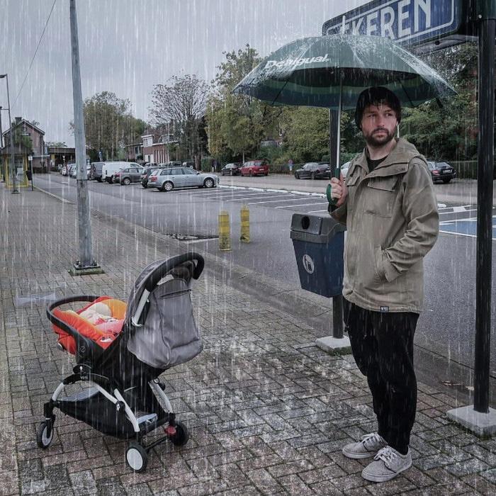 Pai usa Photoshop para por seu filho em situações de perigo para assustar os parentes 8