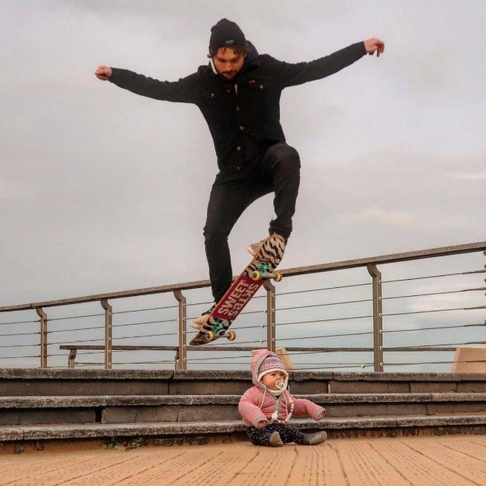 Pai usa Photoshop para por seu filho em situações de perigo para assustar os parentes 9