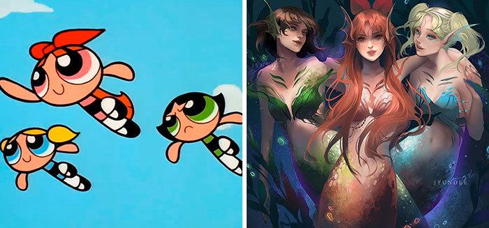 Personagens famosos recriados por uma artista coreana em seu próprio estilo 27