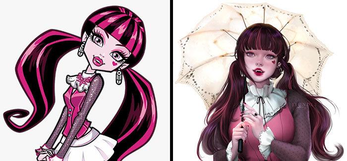 Personagens famosos recriados por uma artista coreana em seu próprio estilo 29