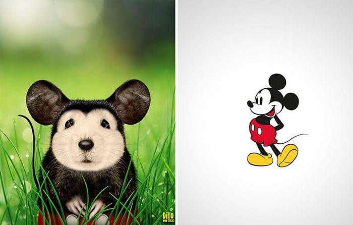 38 retratos de animais dos desenhos animado na vida real 2
