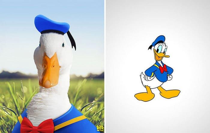 38 retratos de animais dos desenhos animado na vida real 4
