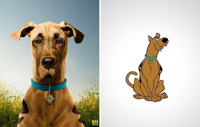 38 retratos de animais dos desenhos animado na vida real 7