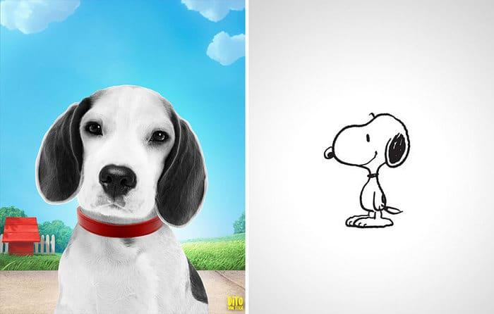 38 retratos de animais dos desenhos animado na vida real 11