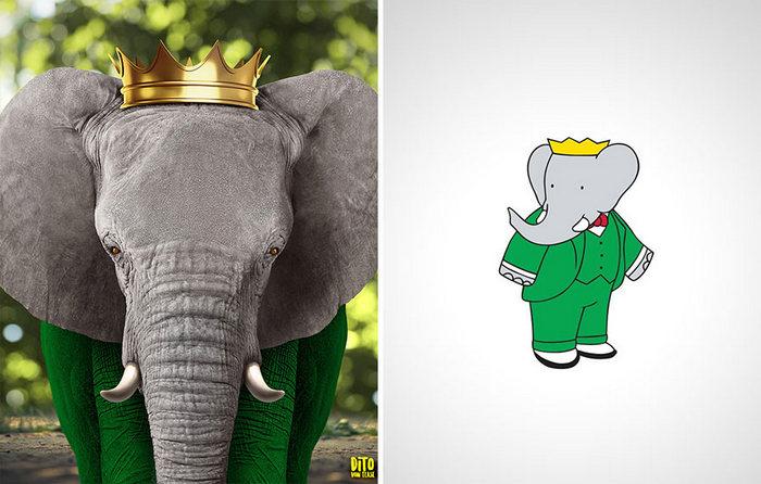 38 retratos de animais dos desenhos animado na vida real 13