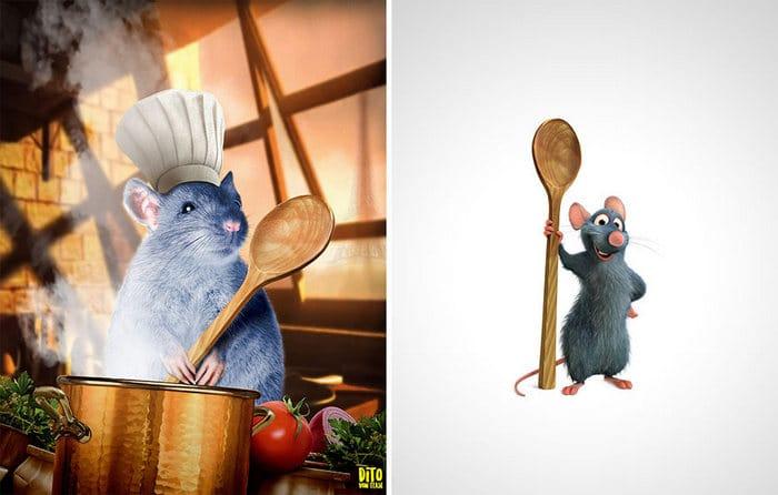 38 retratos de animais dos desenhos animado na vida real 17