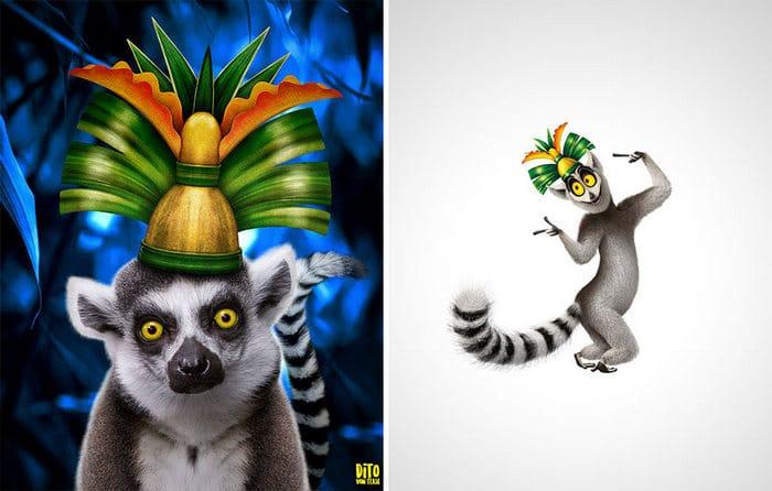 38 retratos de animais dos desenhos animado na vida real 19